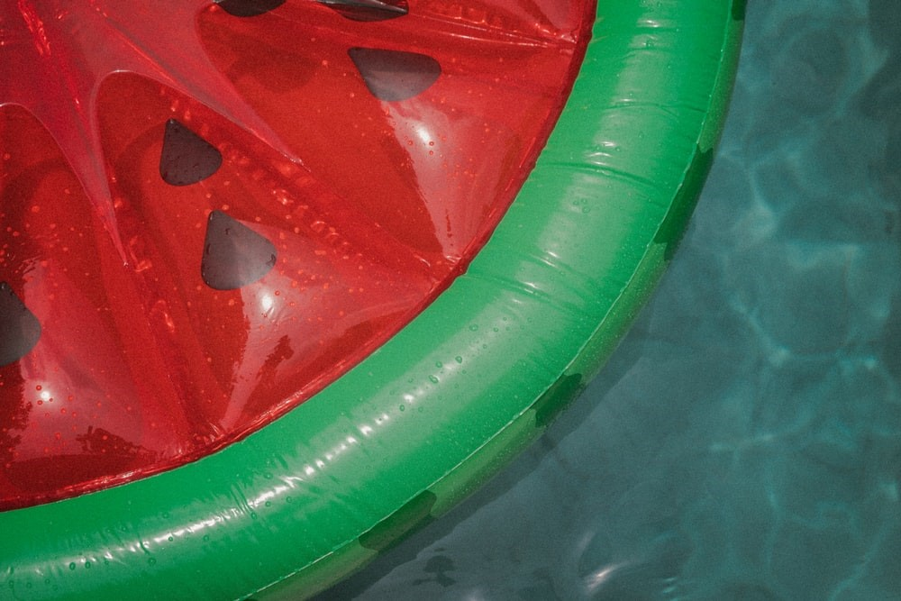 A cute watermelon pool float