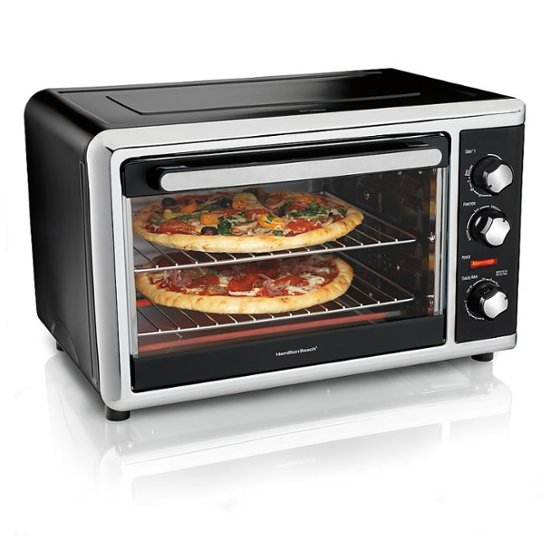 Photo of Conventional oven with pizza inside