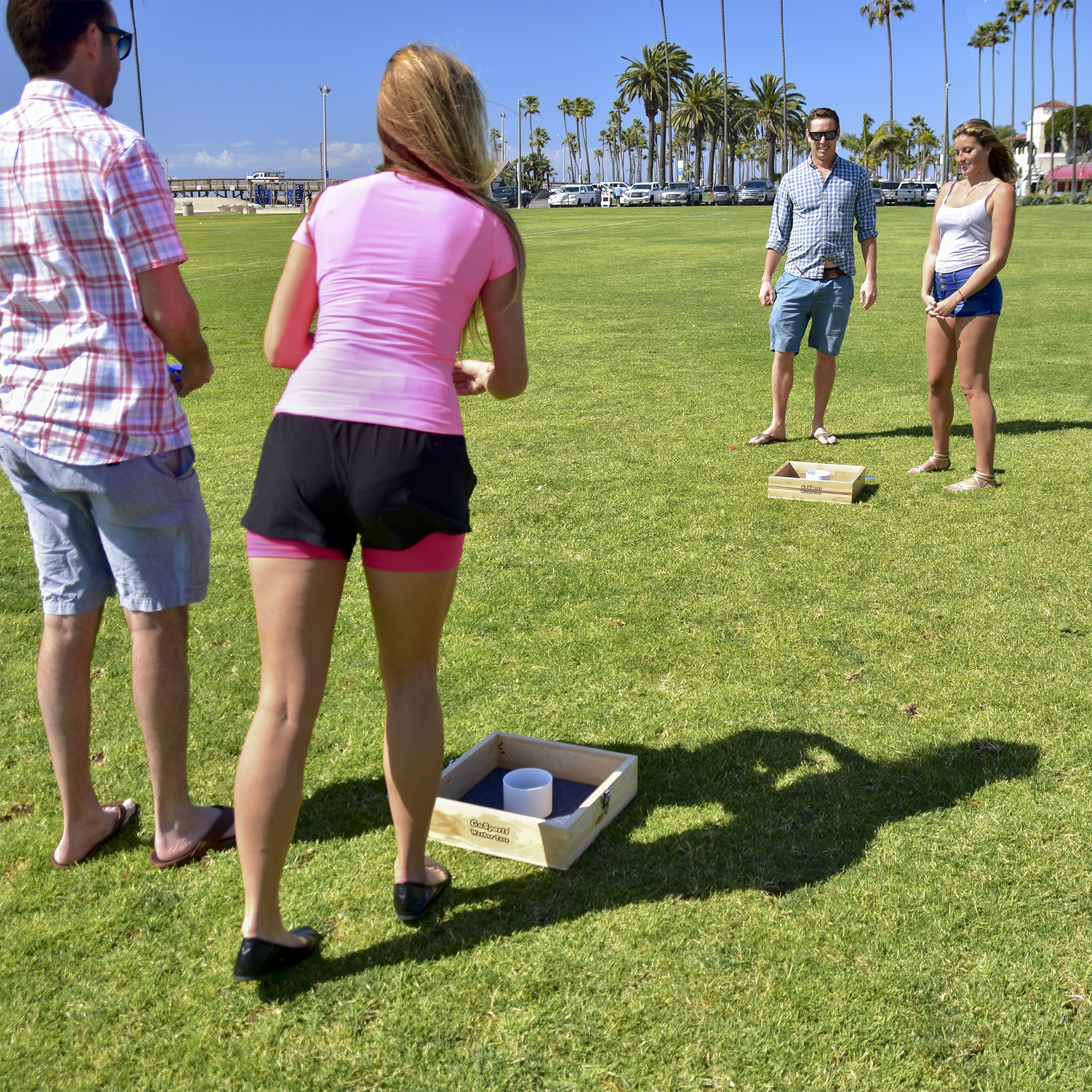 People Playing Washer toss in Washers Lawn Game Rules