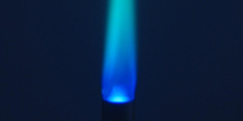 blue fire of pilot light