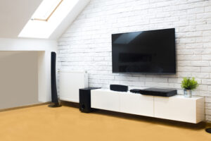 Photo of room have a smart tv