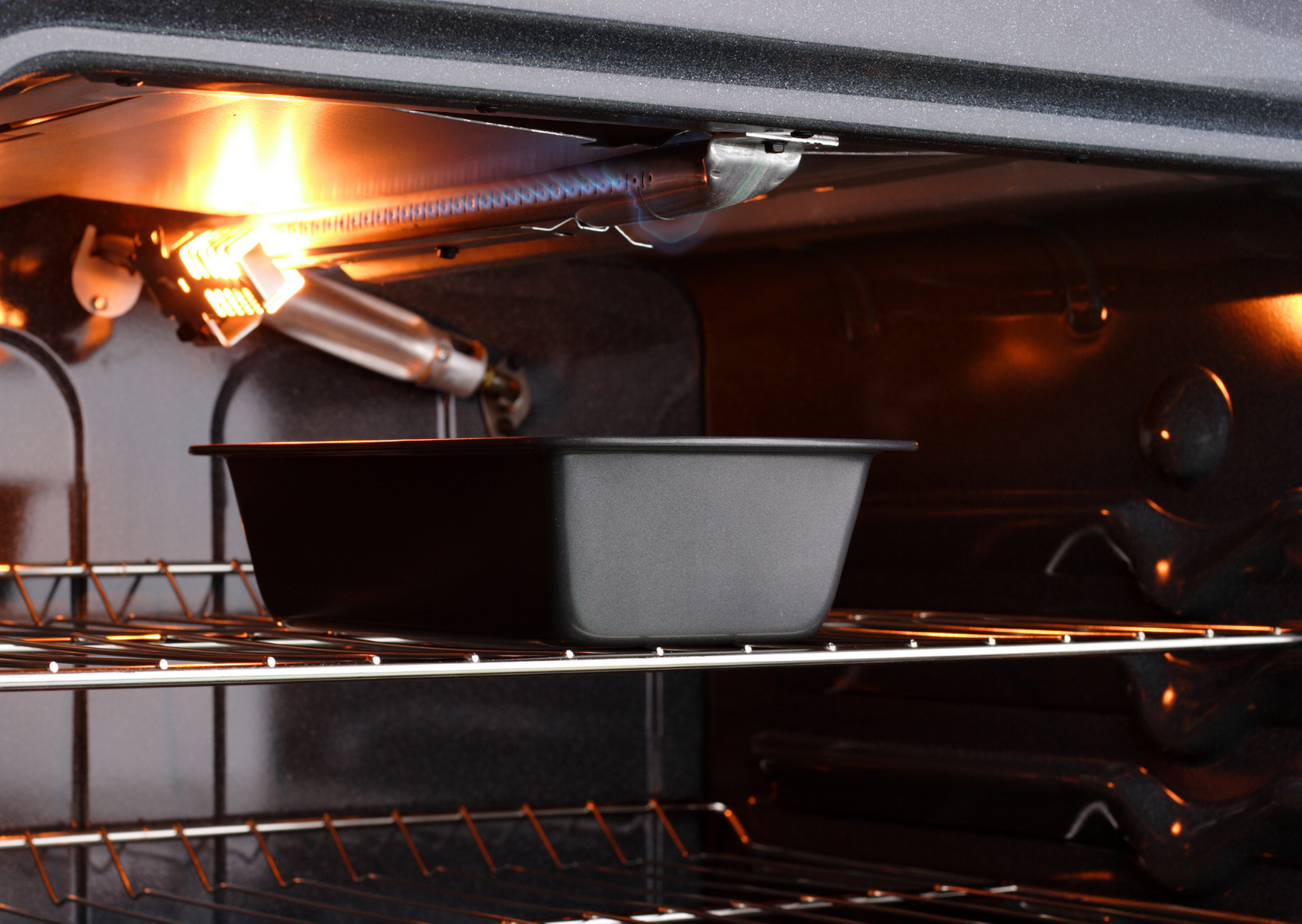 Photo of Inside the gas oven