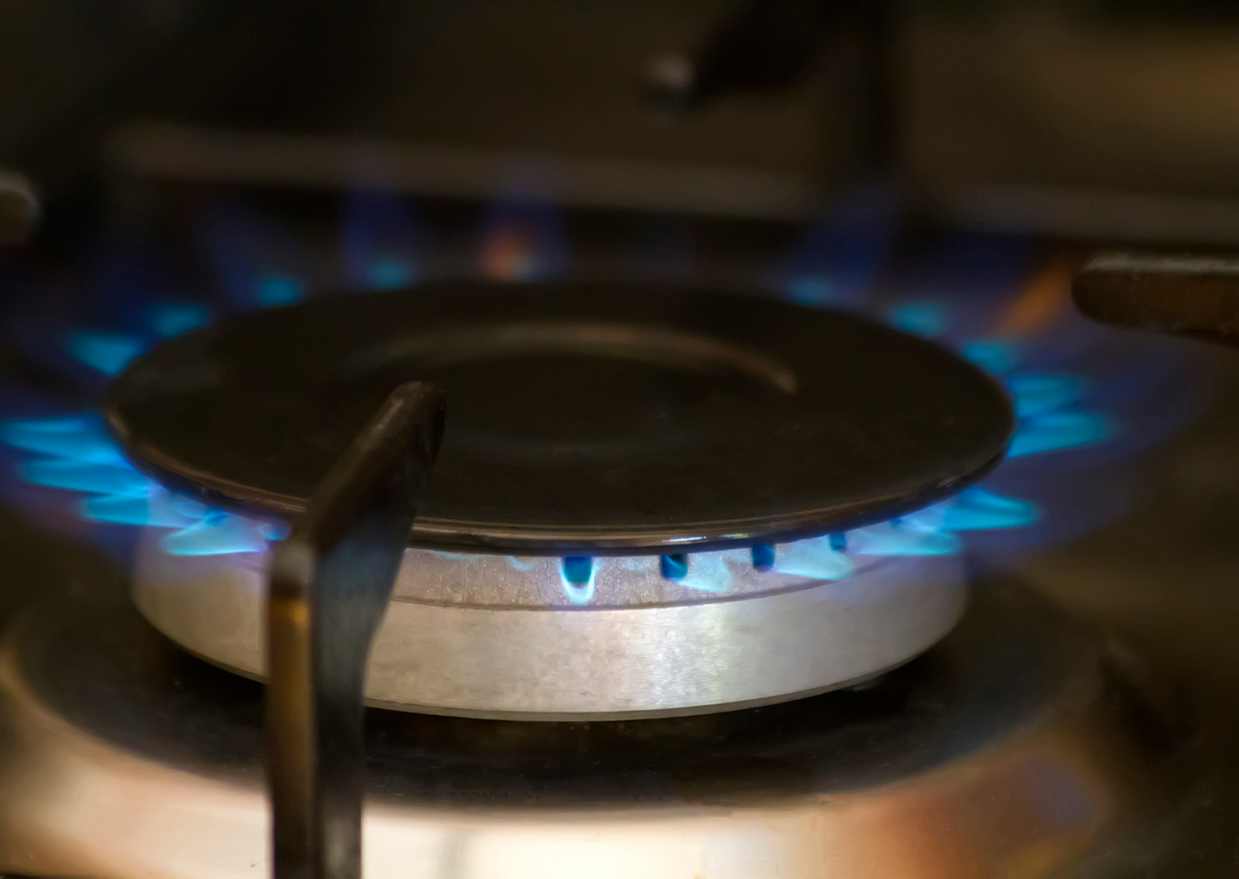 Photo of stove burner coming out heat