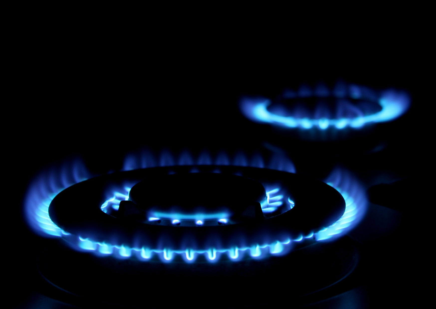 gas stove on fire
