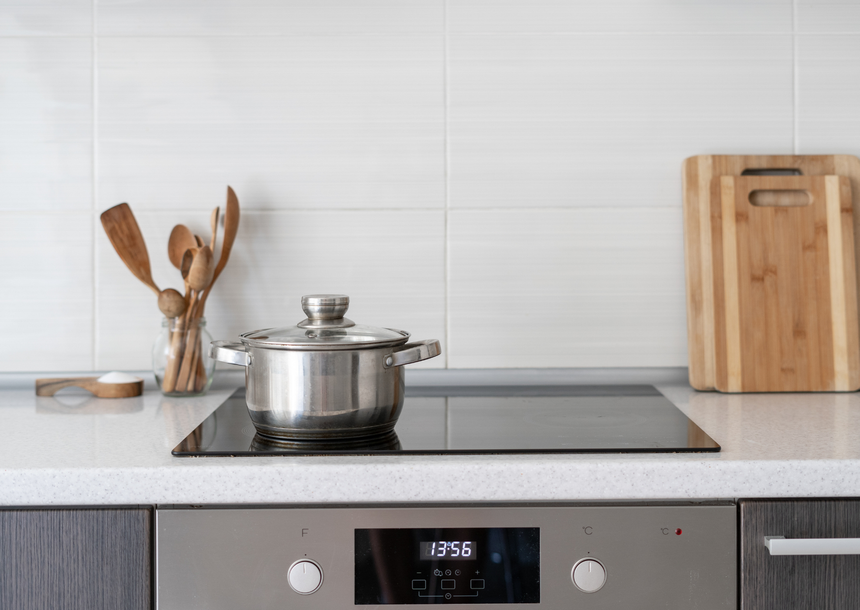 Photo of induction stove in kitchen