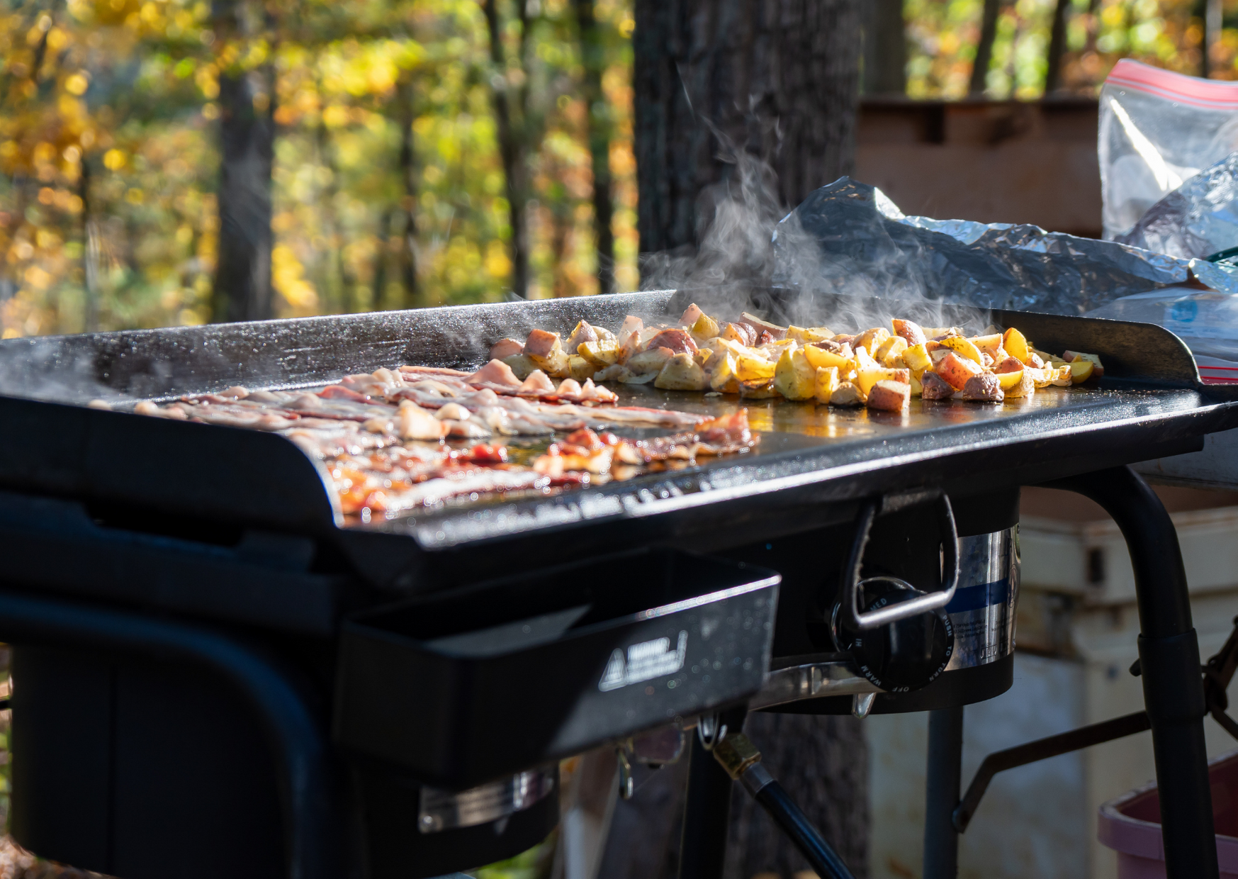Cooking some food using Outdoor Griddle of Best Things to Cook on an Outdoor Griddle