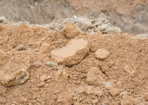 Photo of compacted soil