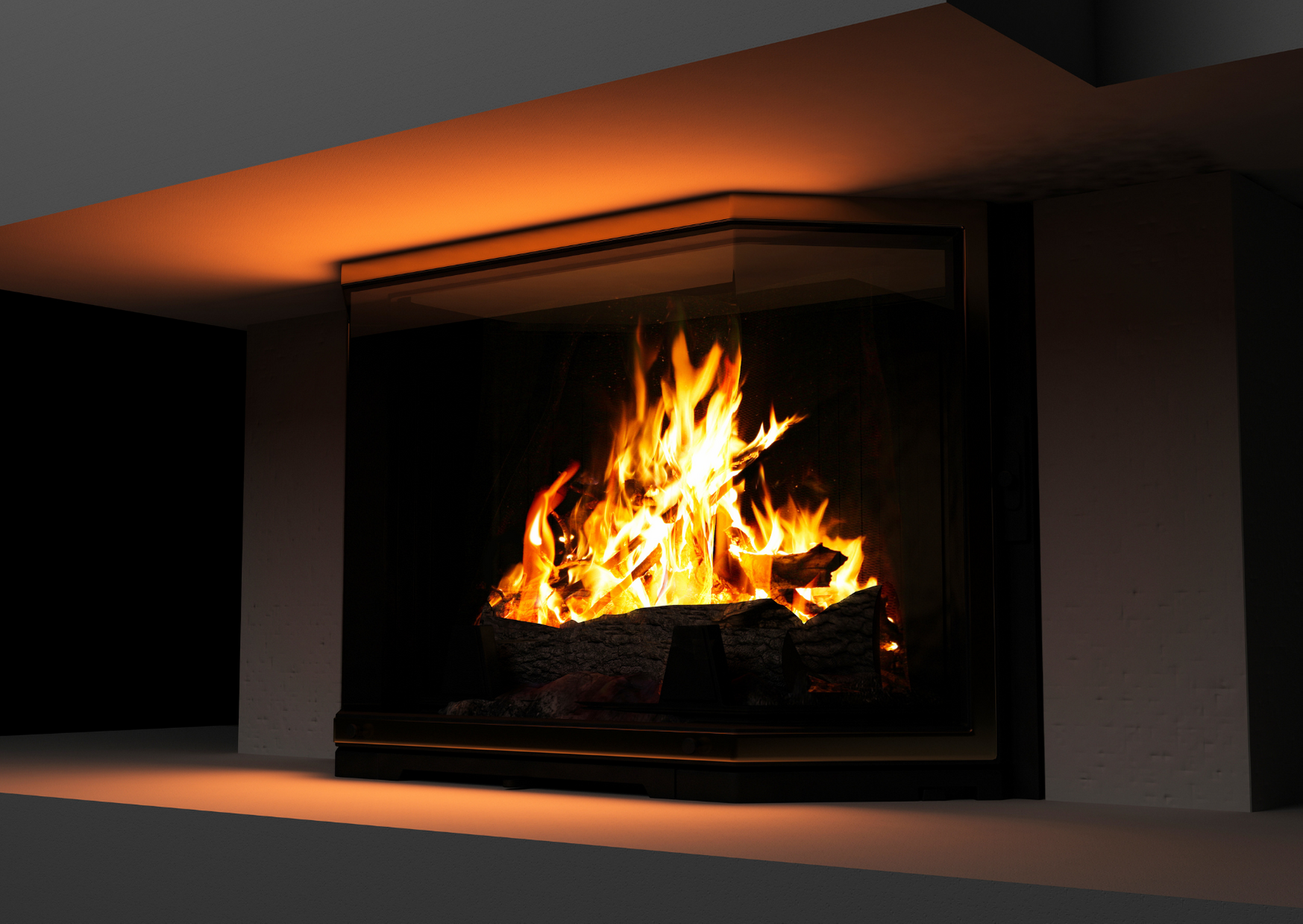 a fireplace inside the house