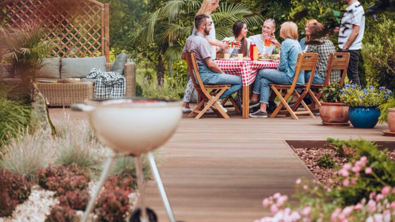 Backyard With friends having fun