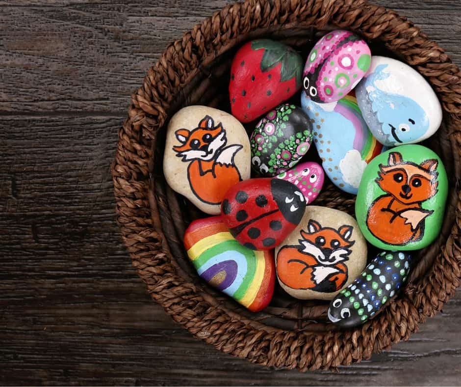 Painted Rocks of Fun Things to Do Outside in Your Backyard In Spring
