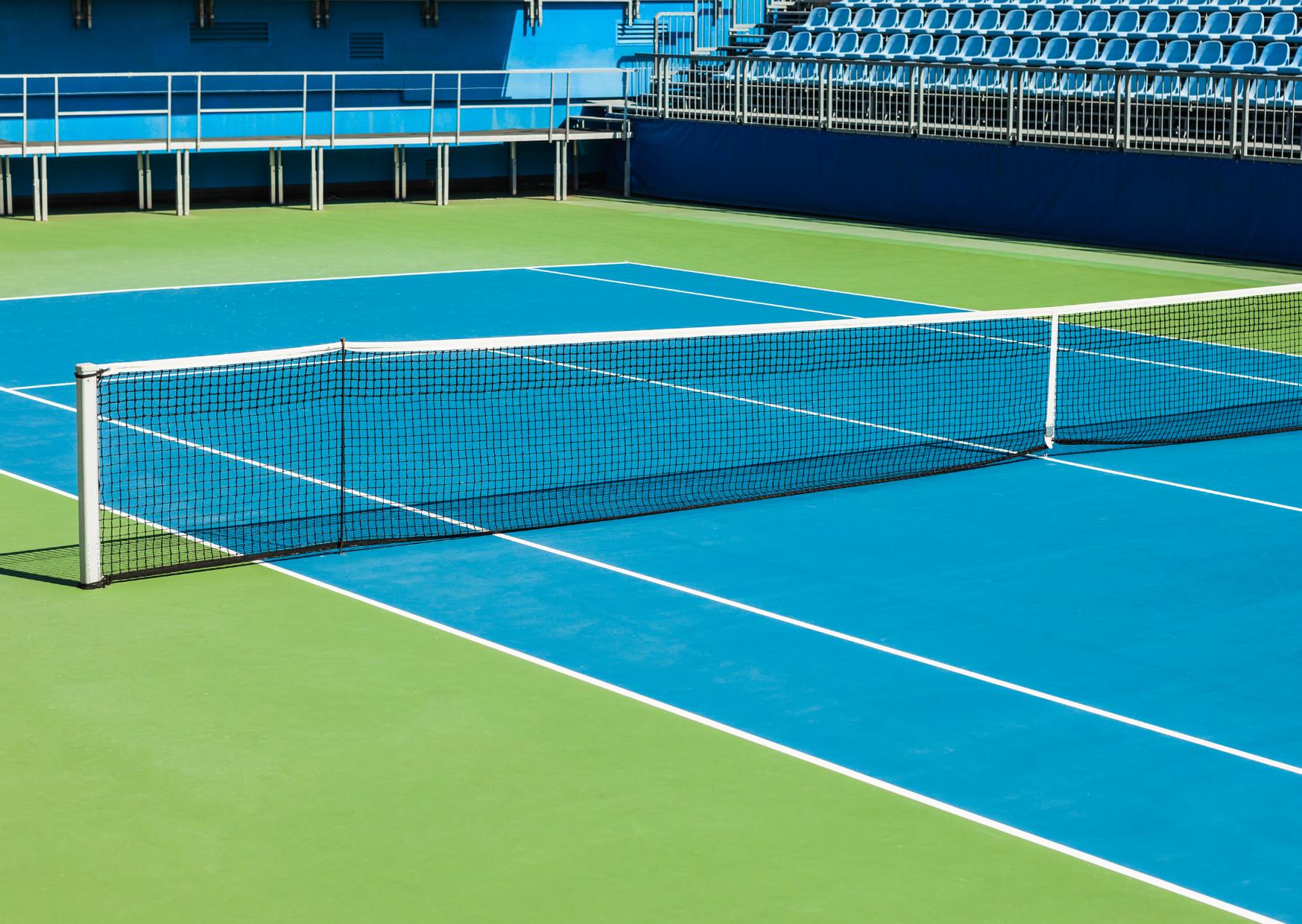 a hard tennis court