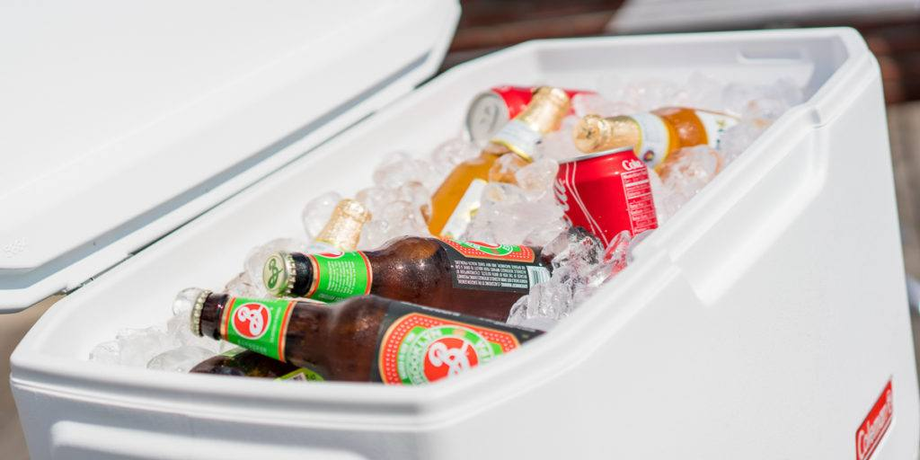 Photo of coolers have a drinks and ice inside