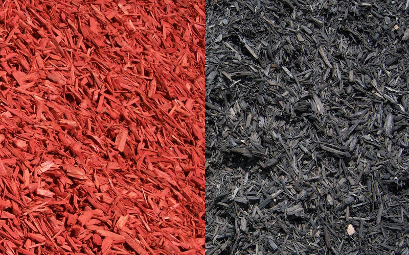 red and blackm mulch