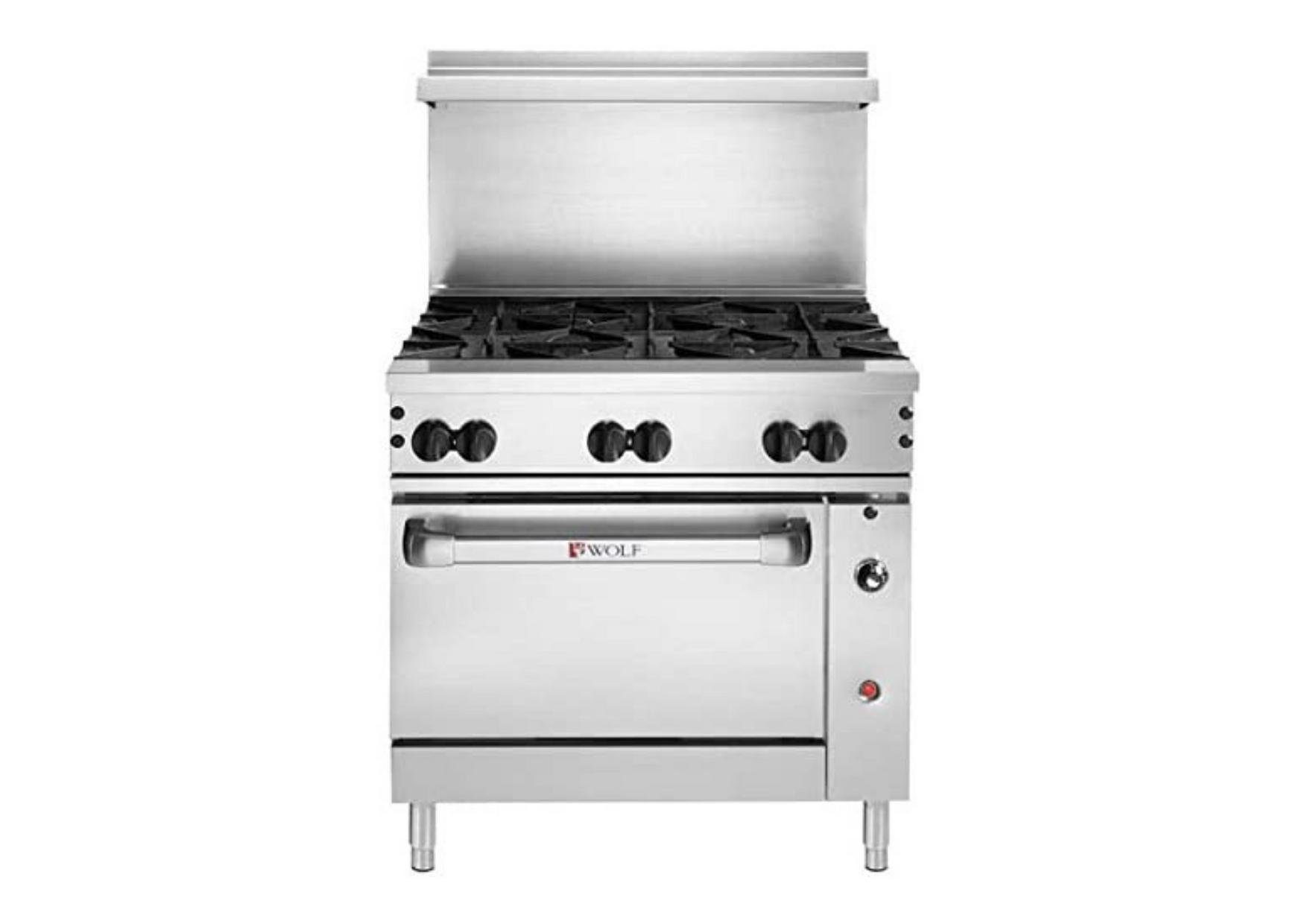 a Wolf range stove