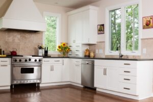 Beautiful Kitchen have a vent over stove