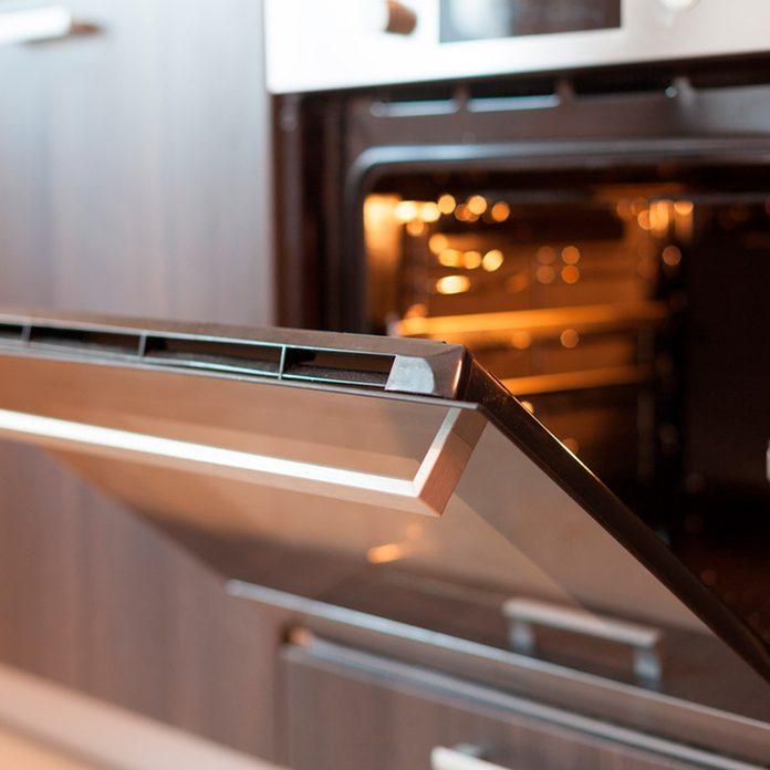 Photo of open oven