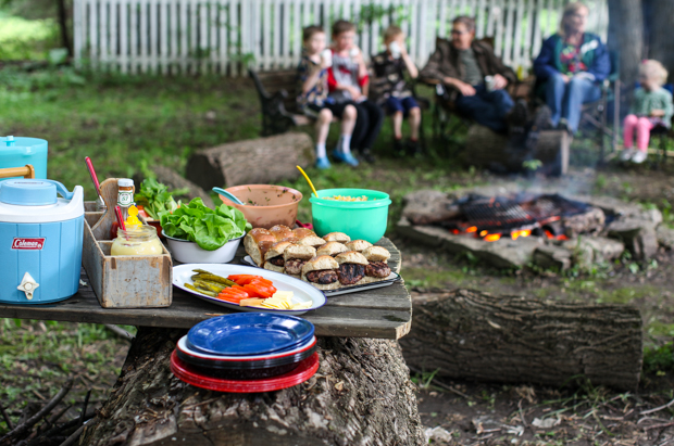 Camp cooking crash course in backyard