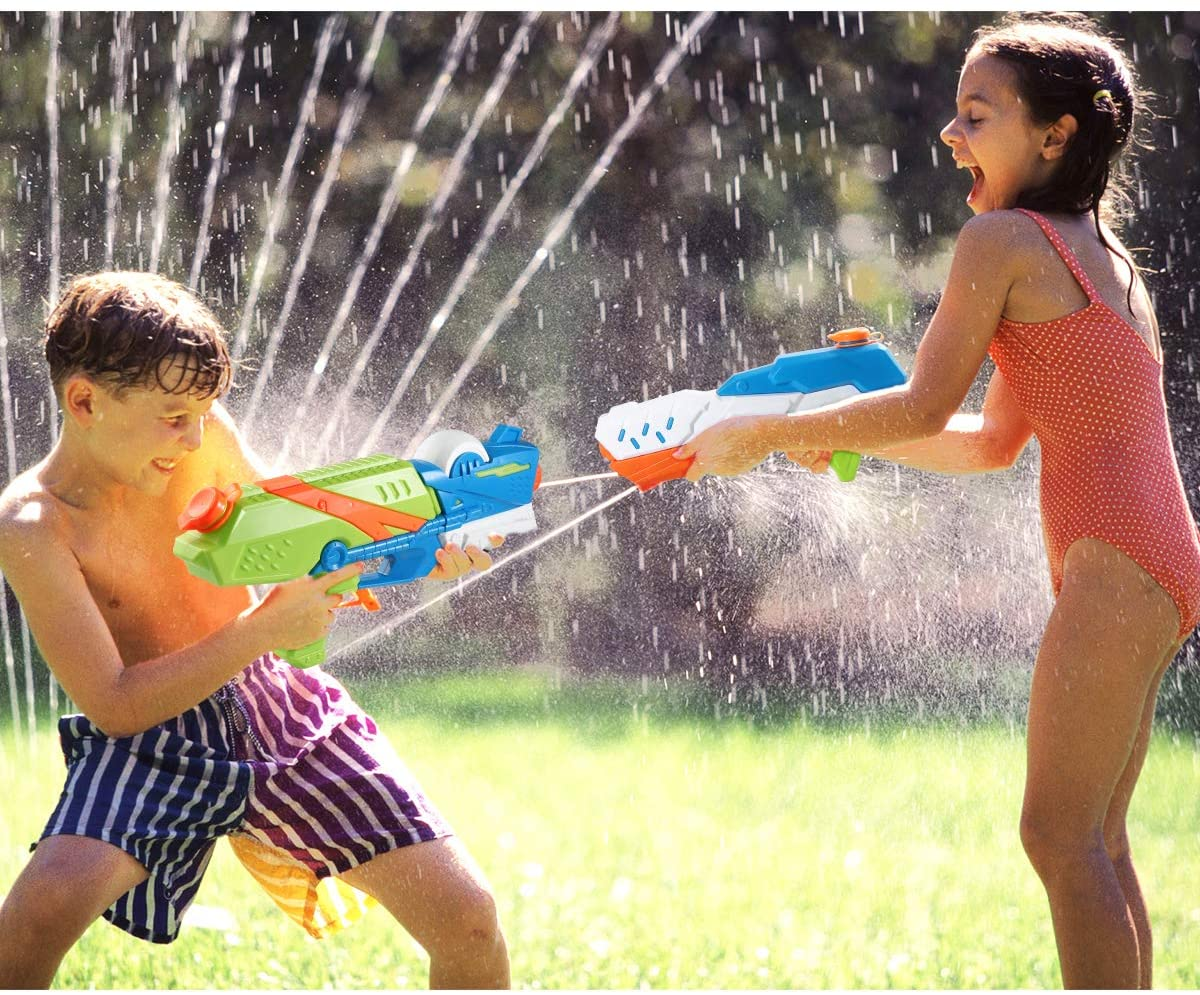 Kids playing water gun of Fun Things to do in your Backyard with Water