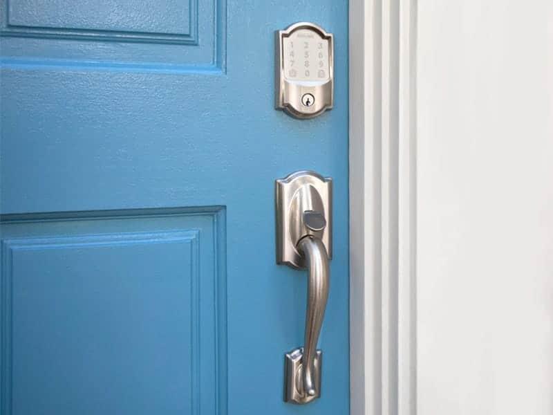 Photo of smart door lock