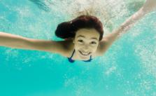 Kid Enjoying to swim