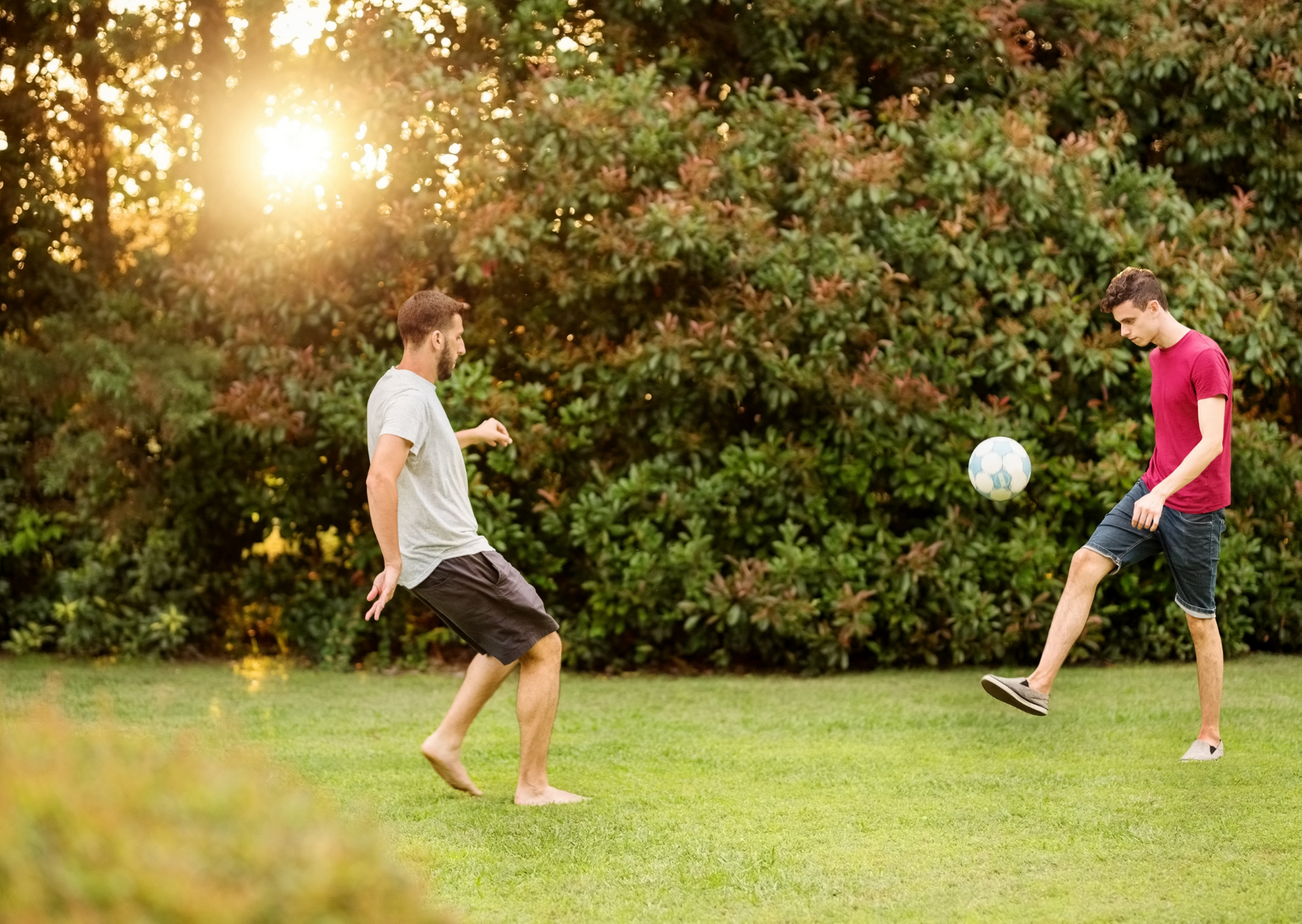 Playing lawn games