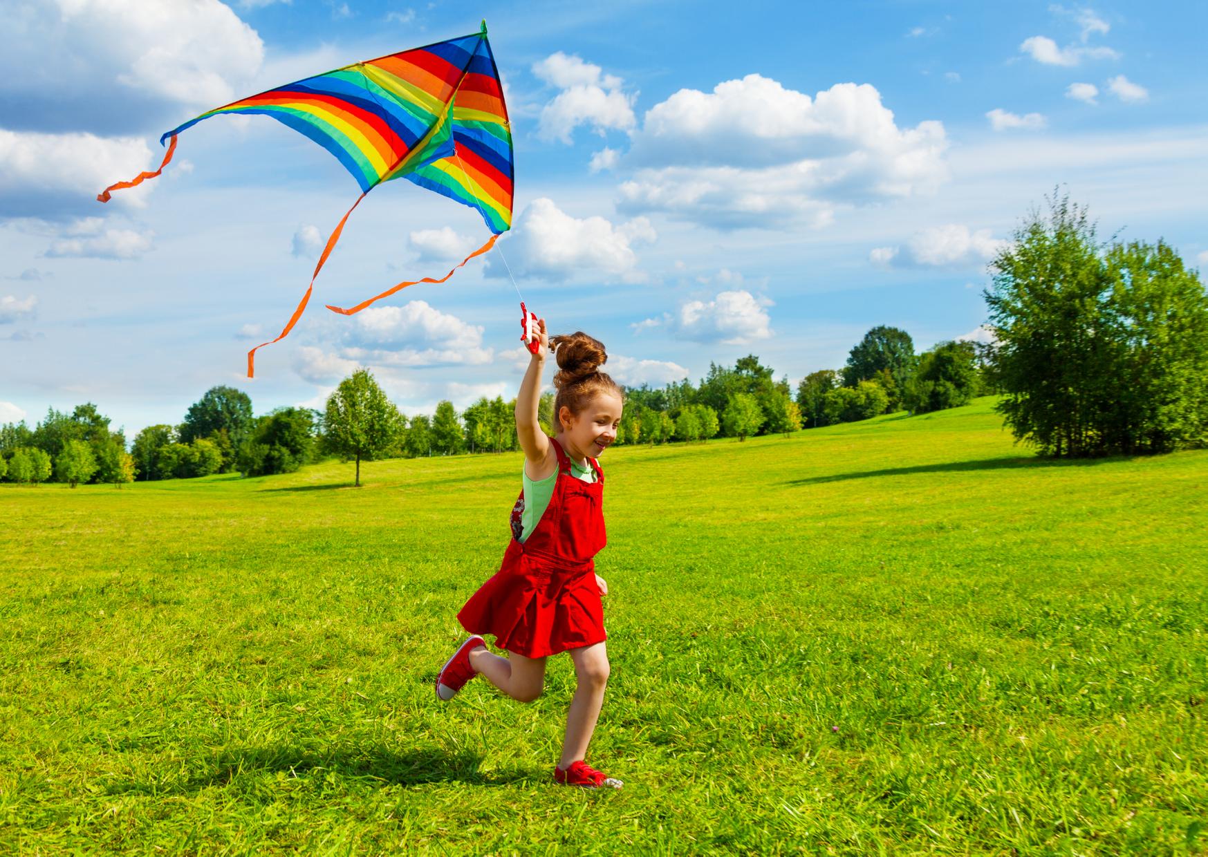 Kid Playing kite