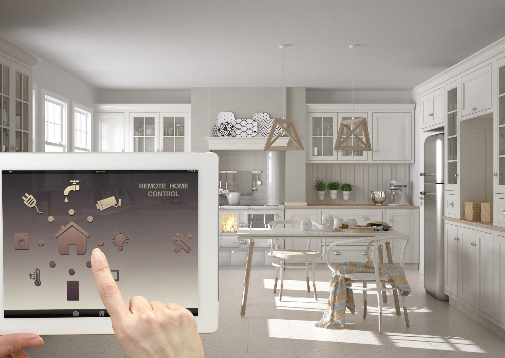 Photo of tablet controlling smart devices of All You Need to Know About Turning Your Home into a Smart Home