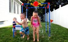 Kids Playing bucket of fun
