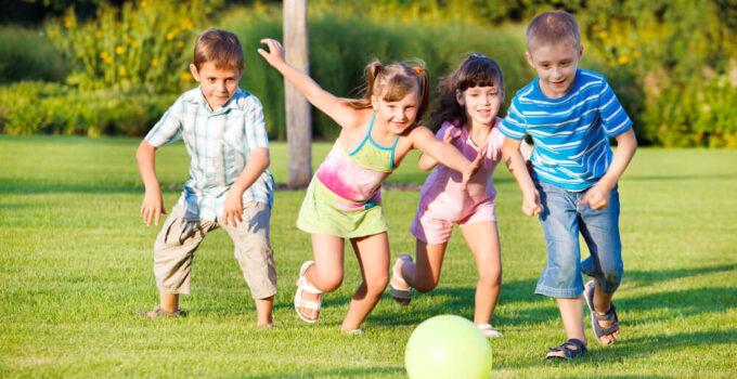 Kids Playing lawn game