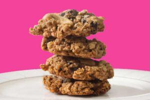 Photo of of oatmeal cookies
