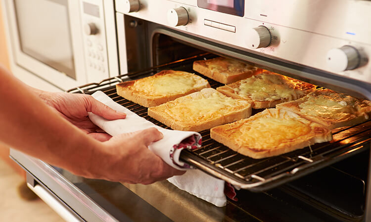 Toast a bread