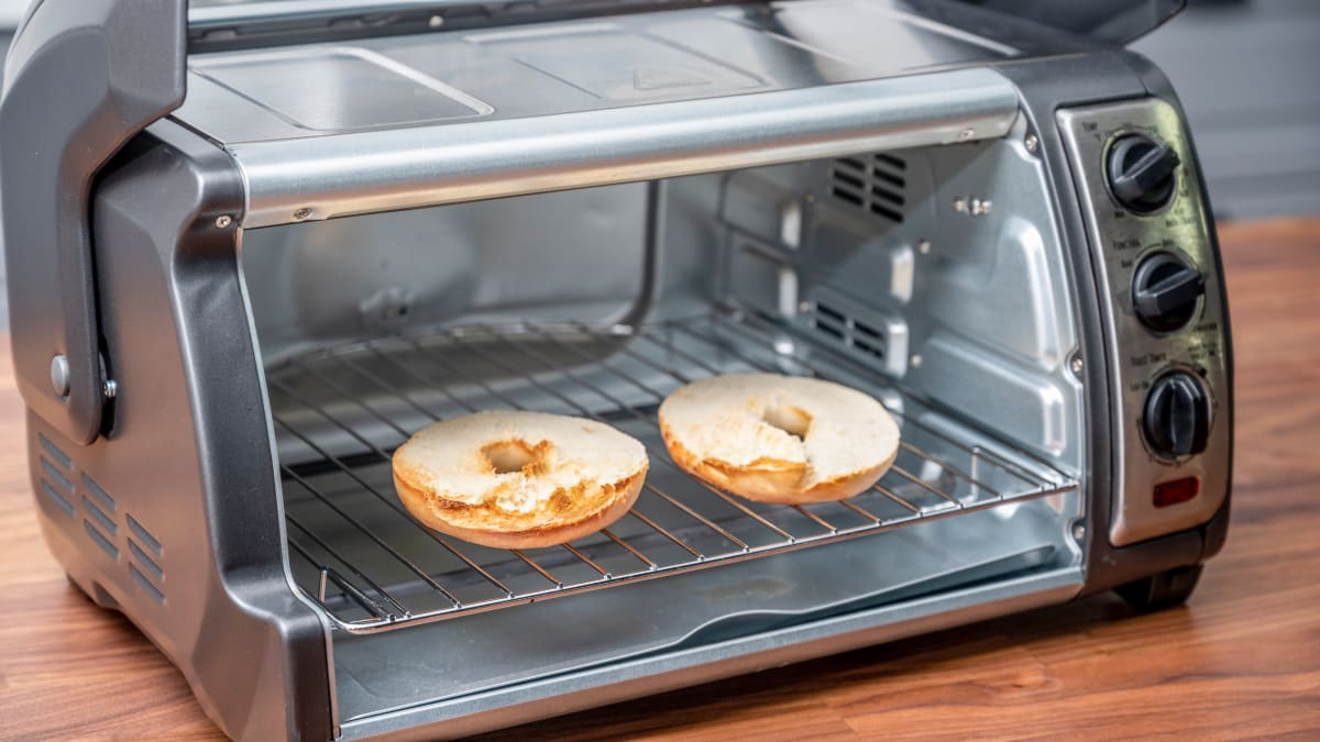 Photo of toaster oven baking