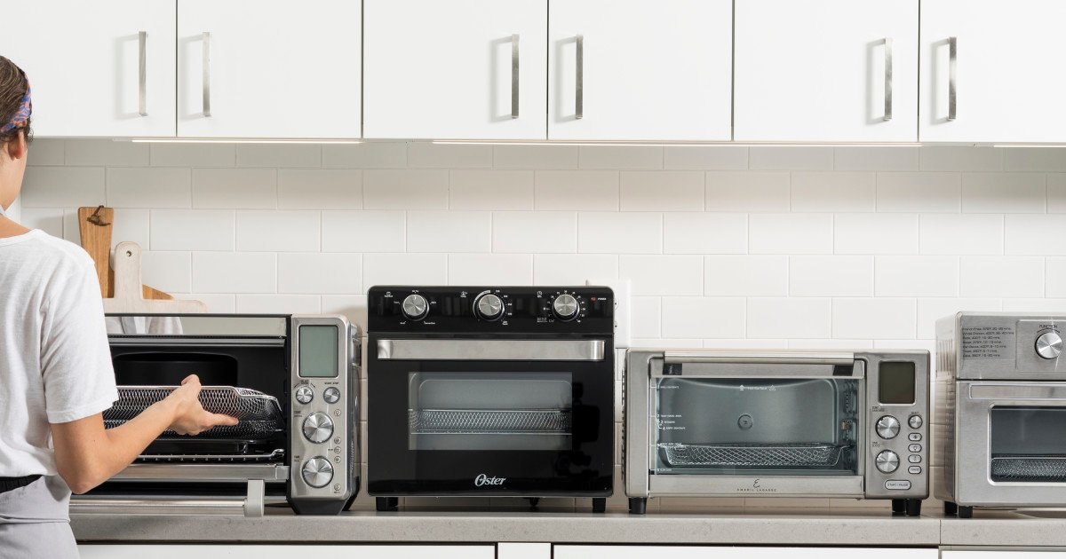 Air fryer toaster oven in kitchen