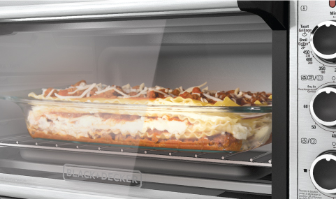 Cooking lasagna in toaster oven