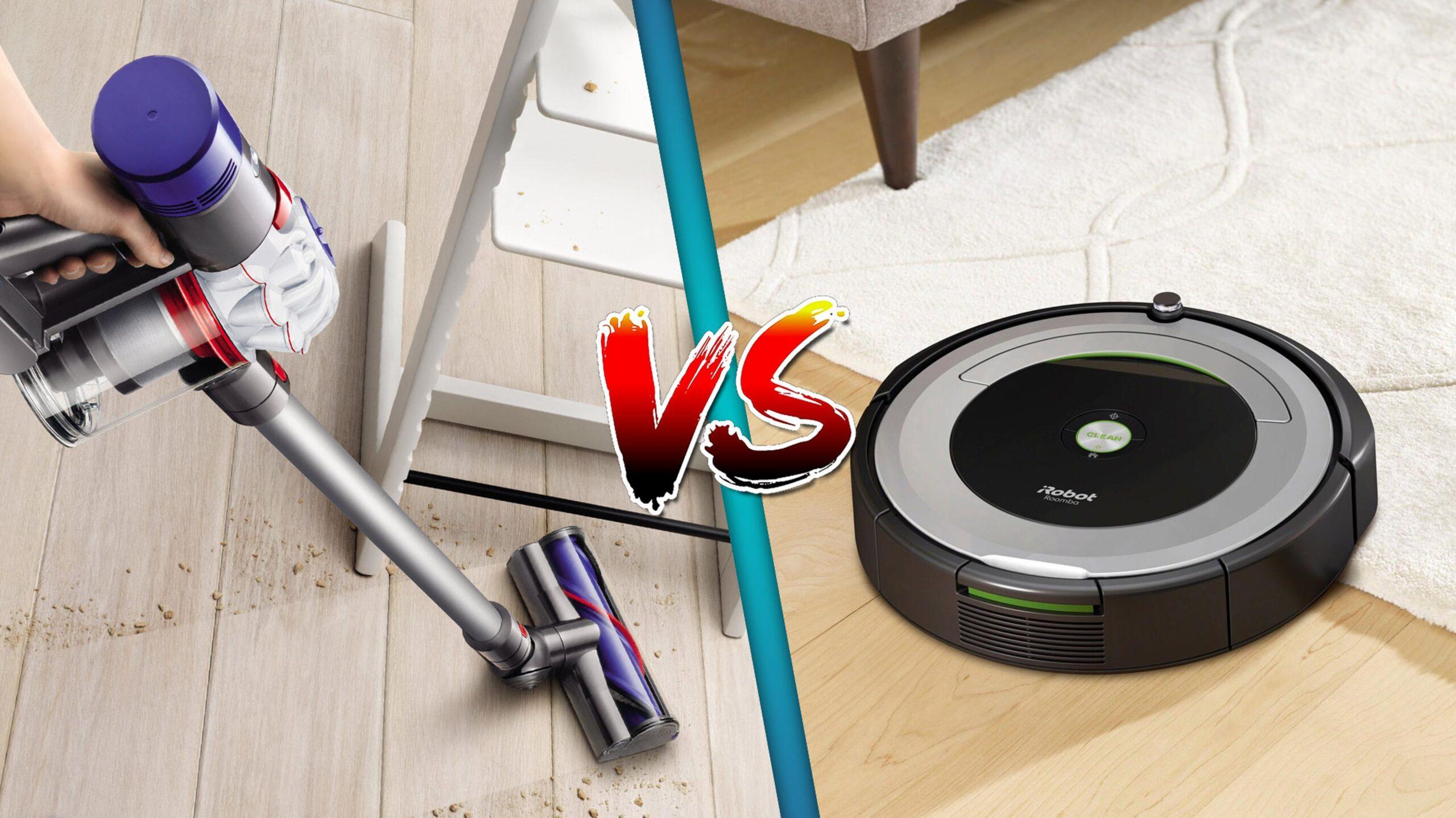 stick vacuum vs robot vacuum